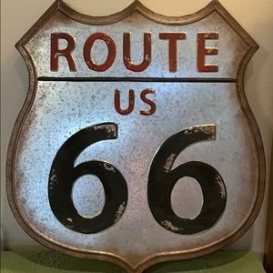 NWT Route 66 Rustic Metal Sign Lightweight